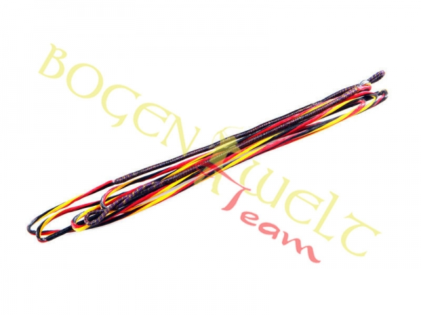 Flex Bowstring 8125 Supra Black-Yellow-Red